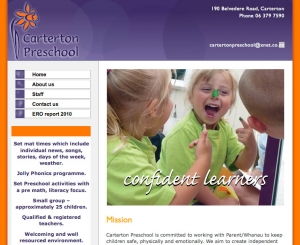 Carterton Preschool website