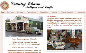 Country Charm Antiques website