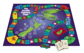 The Terrific Tuatara Trail game board