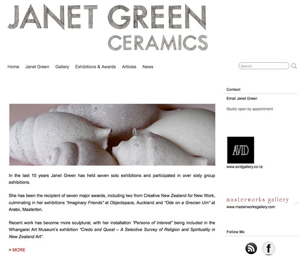 Janet Green website