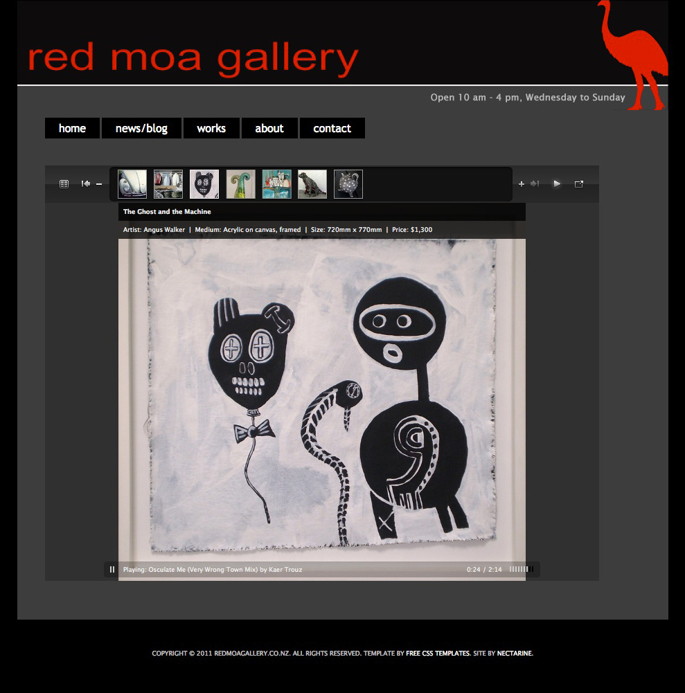 Red Moa Gallery website