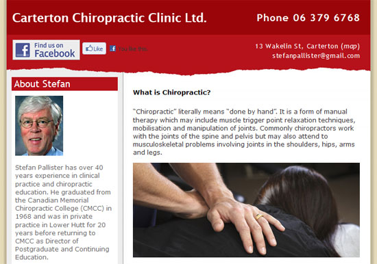Carterton Chiropractic Clinic website