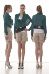 Assess shorts with Afloat sweater
