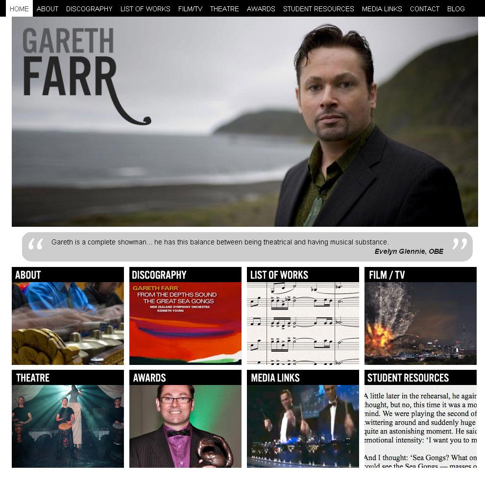 Gareth Farr website