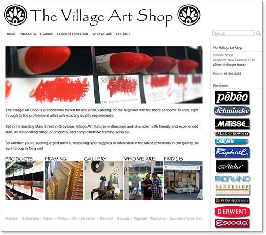 Village Art Shop website