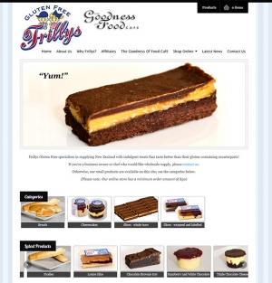 Frillys Gluten Free website By Nectarine