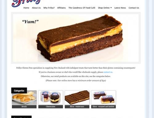 Frillys Gluten Free website