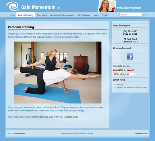 Gain Momentum website