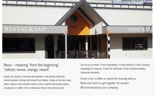 Novo Bar And Restaurant, Kuripuni Masterton - Site By Nectarine