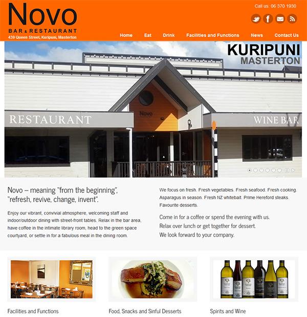 Novo Bar And Restaurant, Kuripuni Masterton - Site By Nectarine