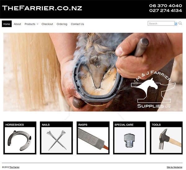 The Farrier website