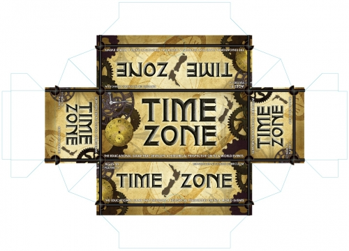 Timezone - Steampunk version, with frame