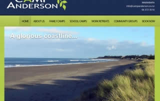Camp Anderson Home - Nectarine Website Portfolio