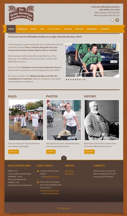 Carterton Wheelbarrow Race - Nectarine Web Portfolio