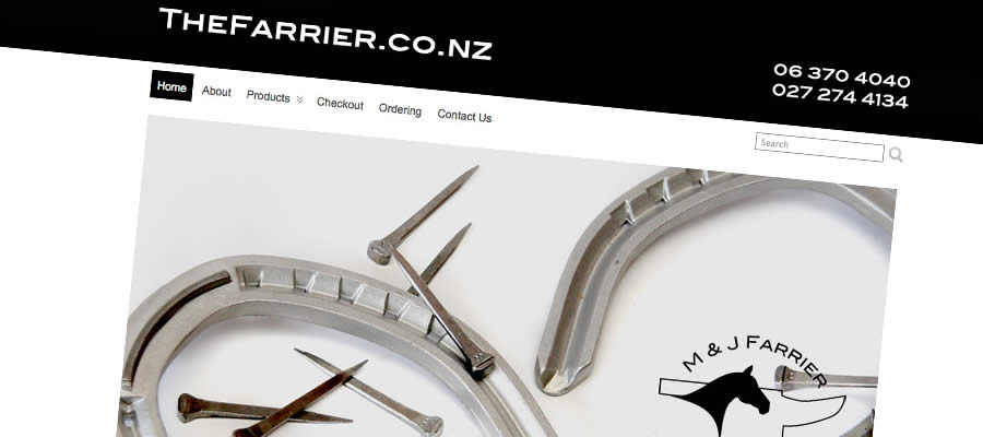 The Farrier : Website