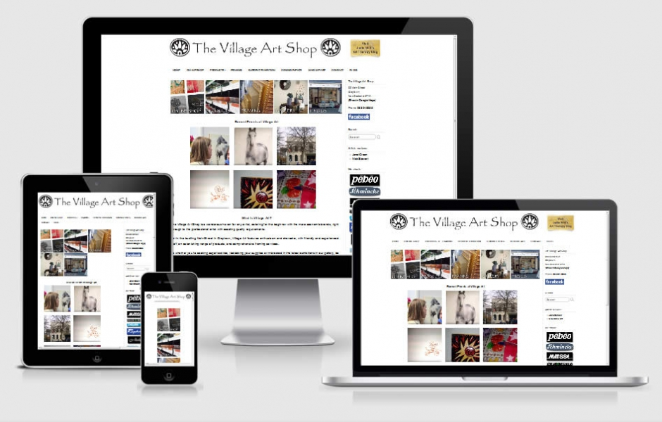 Village Art Shop - Website By Nectarine