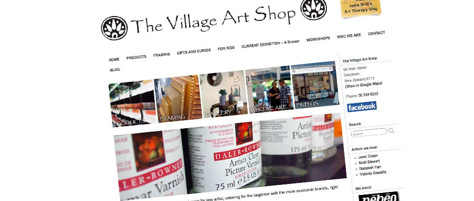 Village Art Shop website