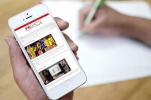 PRomote PR website on mobile