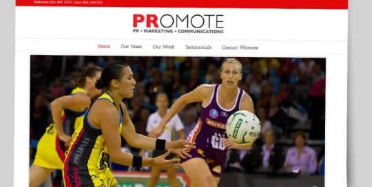 PRomote PR Website - nectarine portfolio
