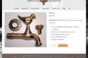 Spouts And Spigots Online Shop Product - Website By Nectarine