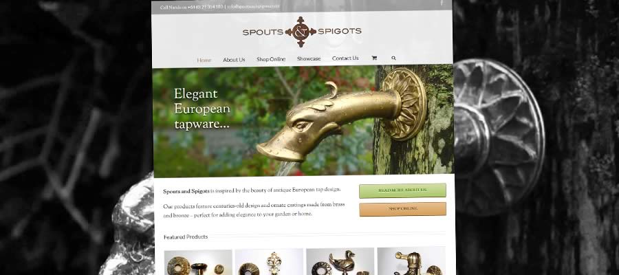Spouts And Spigots - Website By Nectarine