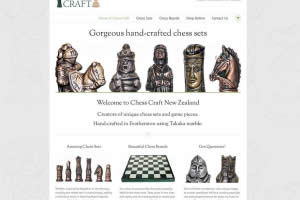 Chess Craft - Chess Sets - Home Page - Website By Nectarine