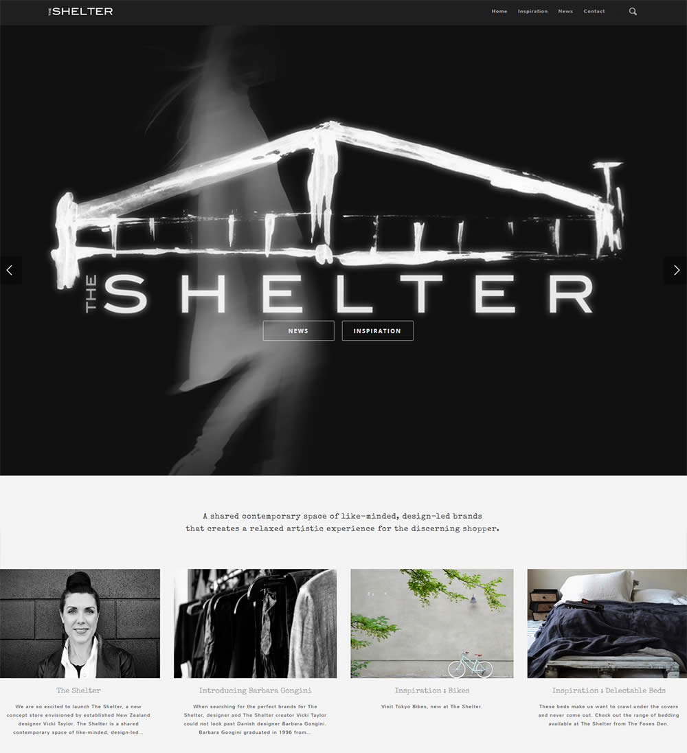 The Shelter website