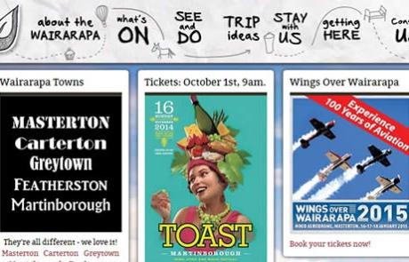 Destination Wairarapa - Featured Website By Nectarine