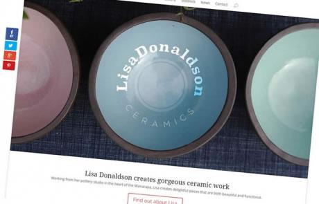 Lisa Donaldson Ceramics - Website by Nectarine