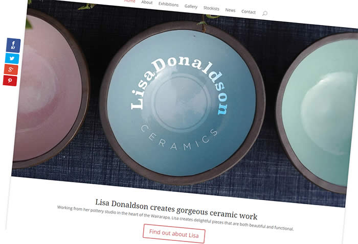 Lisa Donaldson Ceramics - Website by Nectarine