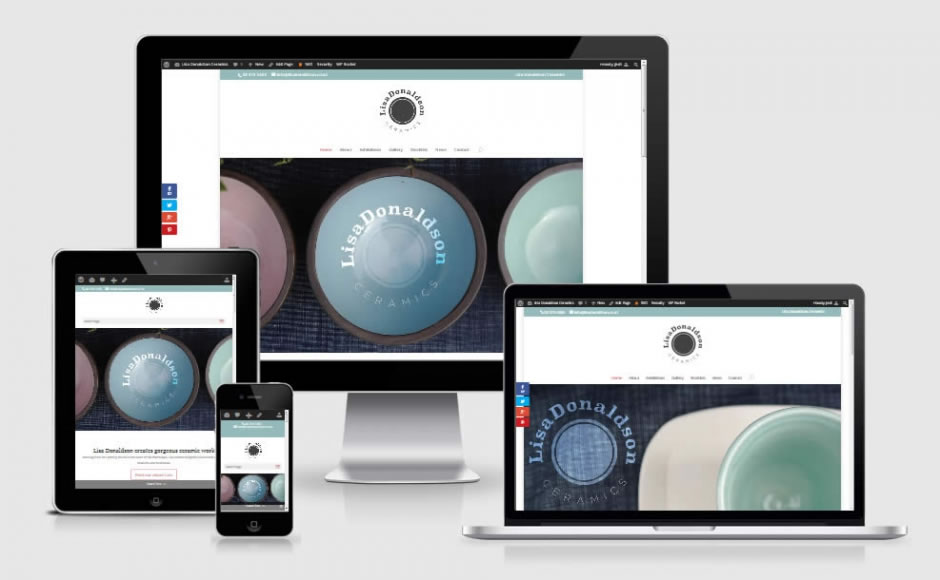 Lisa Donaldson Ceramics - Website by Nectarine - Responsive design