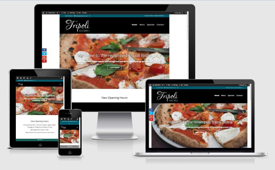 Tripoli Bistro- Responsive Website by Nectarine