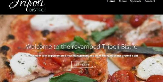 Tripoli Bistro Home - Responsive Website by Nectarine