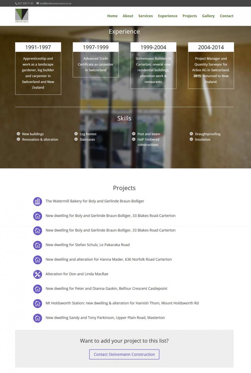 Andi Steinemann Construction Nectarine Website Portfolio 2