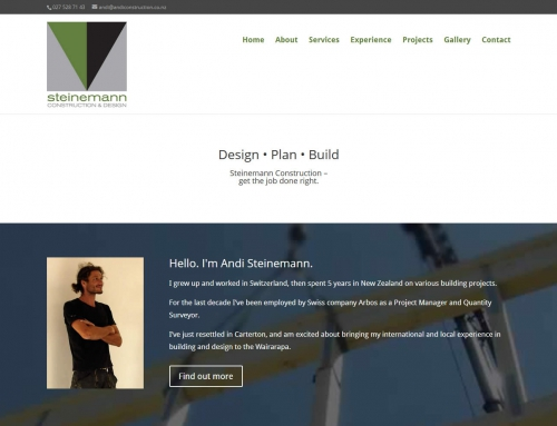 Andi Steinemann Construction website