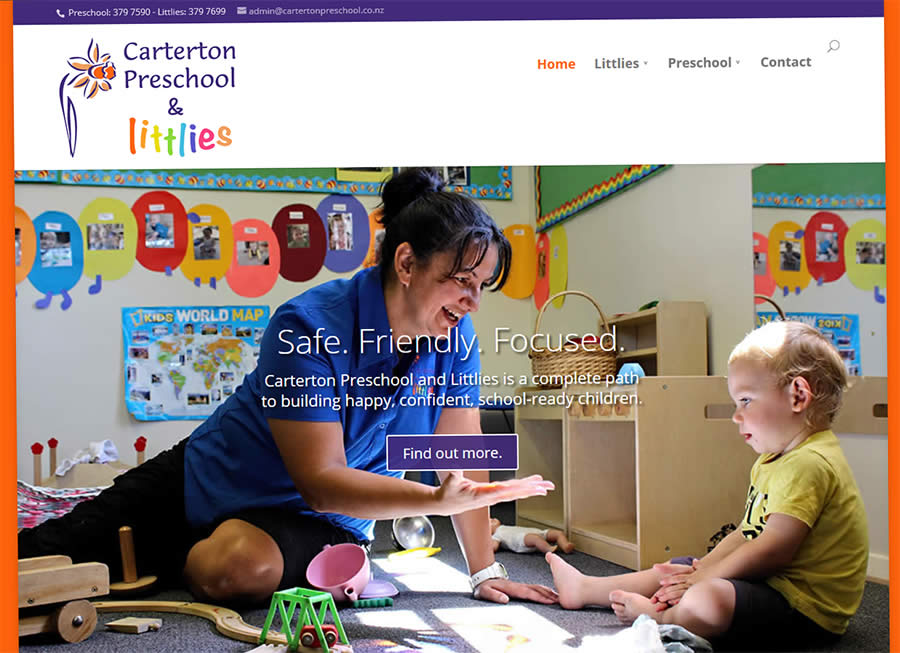 Caterton Preschool Nectarine Website Portfolio 3