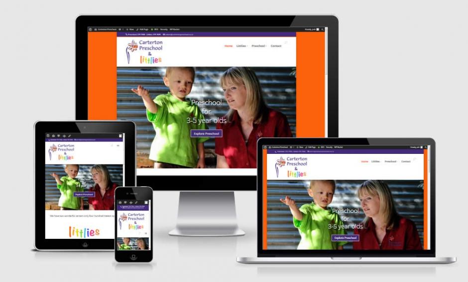 Caterton Preschool Nectarine Website Portfolio Responsive