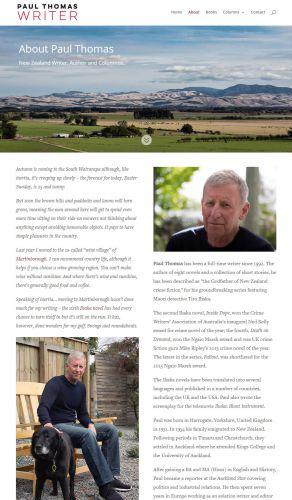 Paul Thomas About Nectarine Website Portfolio