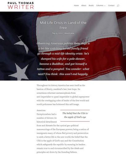 Paul Thomas Article Nectarine Website Portfolio
