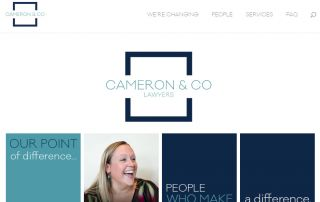 Cameron And Company Website By Nectarine Featured