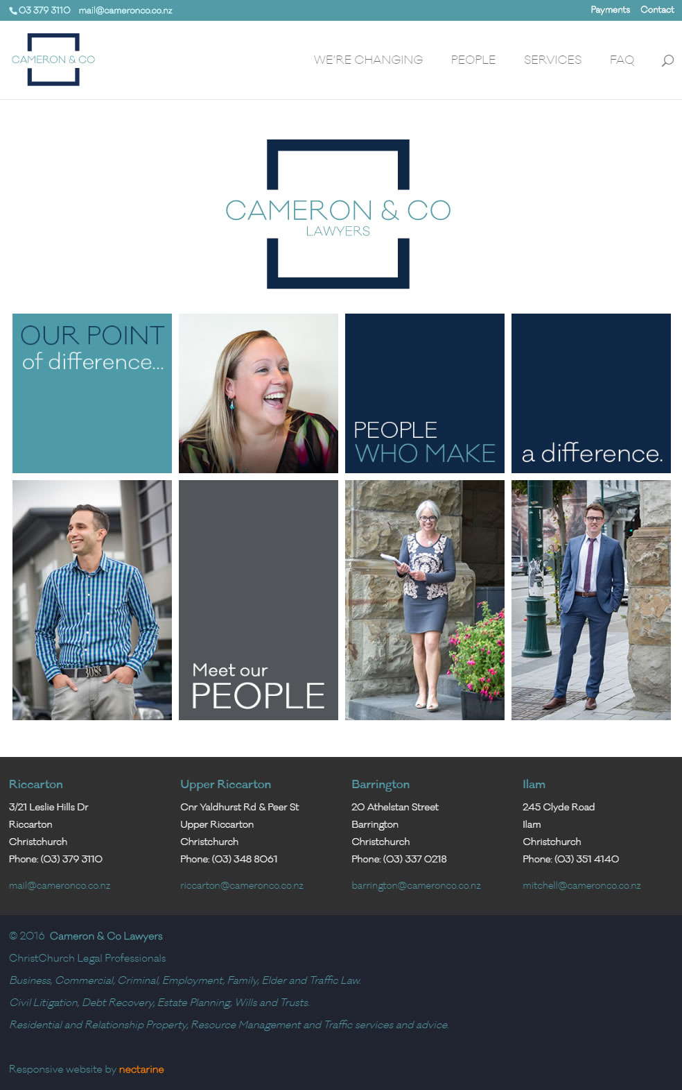 Cameron And Company Website By Nectarine Home