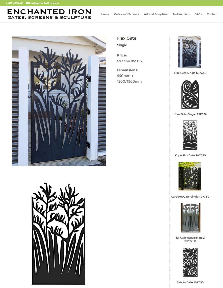 Enchanted Iron Gates Screens Flax Gate