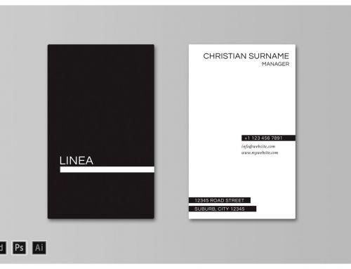 Linea Business Card Template