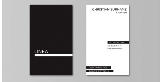 Linea Business Card Mockup Portrait