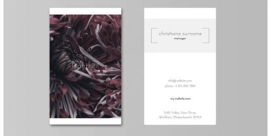 Santhe Business Card Mockup Portrait