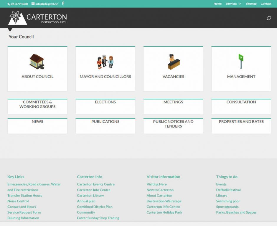 Carterton District Council Your Council Nectarine Website Portfolio