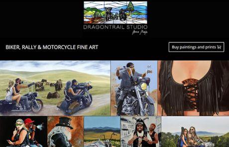 Dragontrail Studio Biker Paintings Nectarine Website Portfolio F