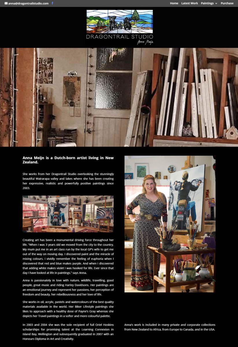 Dragontrail Studio Home Nectarine Website Portfolio