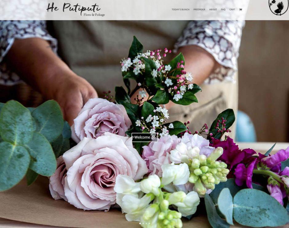 He Putiputi Flowers Home Nectarine Website Portfolio