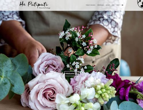 He Putiputi flowers – website and logo